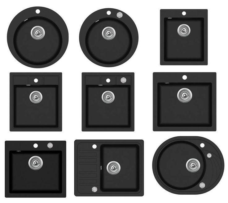 Shigo Granitspüle Spüle Spülbecken Küchenspüle versch. Ausführungen schwarz