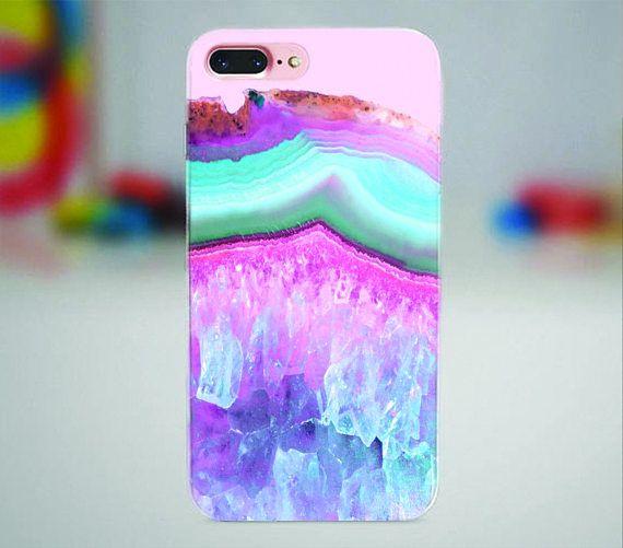Pink raw stone iPhone case.  #raw #stone #iphonecase #iphone #iphone7 #iphone8 #iphonex #iphone7plus #iphone6plus #iphone8plus #case #pink #blue