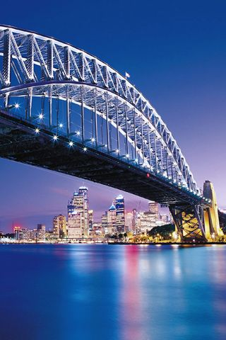 "Sydney Harbour Bridge, Australia:  Want to climb that ""curve"".  Saw it on an episode of ""Little People, Big World""."