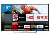 "Smart TV LED 49"" Sony 4K Ultra HD KD-49X7005D - Conversor Digital Wi-Fi 4 HDMI 3 USB DLNA"