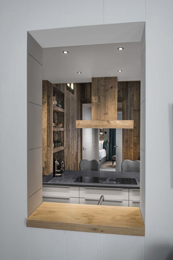 Fenêtre, ouverture sur une cuisine. Création Stéphanie Veslot Décoratrice d'intérieur