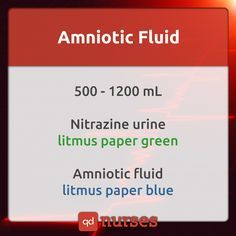 Know the litmus paper colors of urine and amniotic fluid. --- Visit http://qdnurses.com/qdmemes for your daily dose of nursing education! --- #nclex #nursing #nclextips #nclex_tips #nurse #nursingschool #nursing_school #nursingstudent #nursing_student