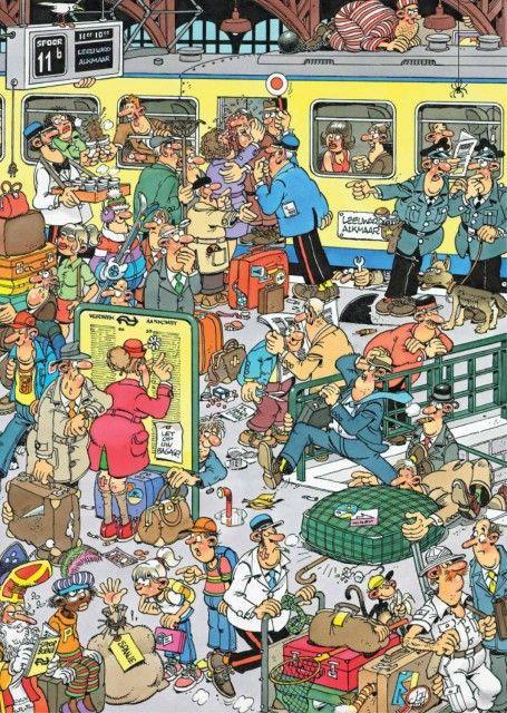 Jan van Haasteren: Perrongeluk (500 stukjes)