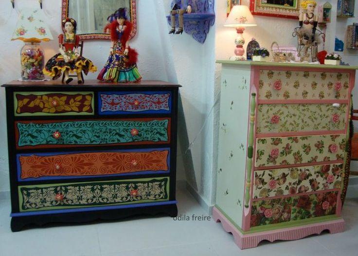 Vomoda restaurada m veis coloridos pinterest - Muebles pintados de colores ...