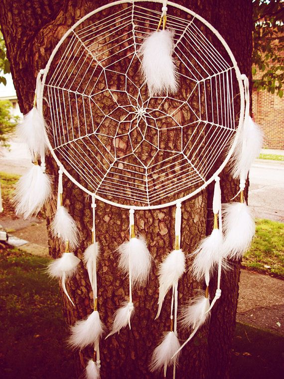 Dream Catcher Large White by 7WishesDreamcatchers on Etsy, $45.00