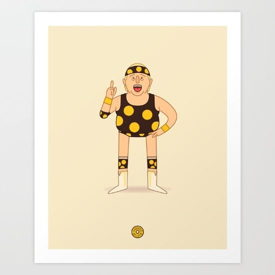 Dusty Rhodes - Pro Wrestling Illustration Art Print