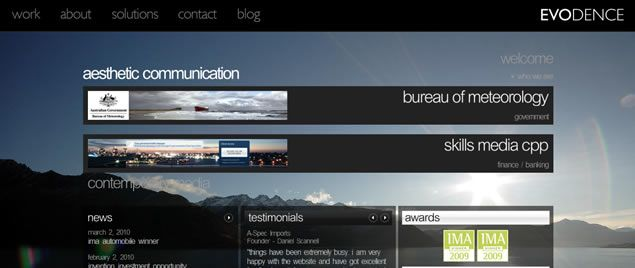 50 Examples of Large Image Backgrounds in Web Design