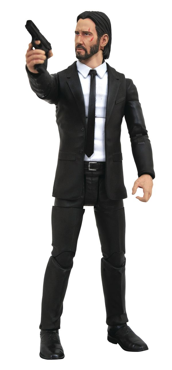 7 John Wick Select Figure From Dst Black Suits Action Icon Action Figures