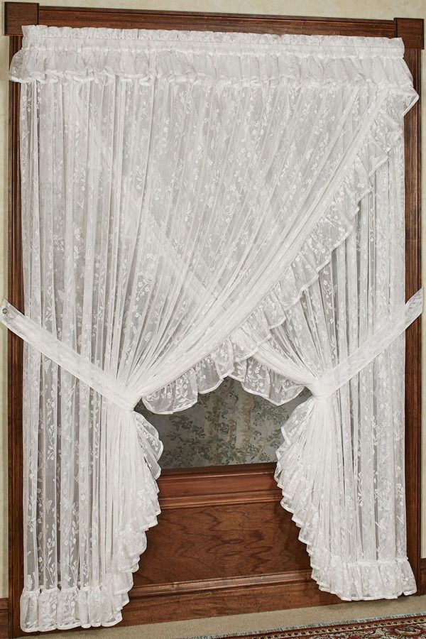 Butterfly Charm Ruffled Lace Wide Priscilla Curtains Priscilla Curtains Curtains French Country Decorating Bedroom