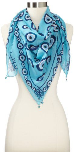 Otrera Women's Original Evil Eye Collection Scarf, Turquoise, One Size  Otrera http:/