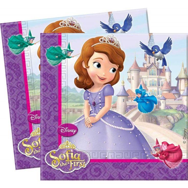 Sofia Prinses Servetten - 20 stuks.