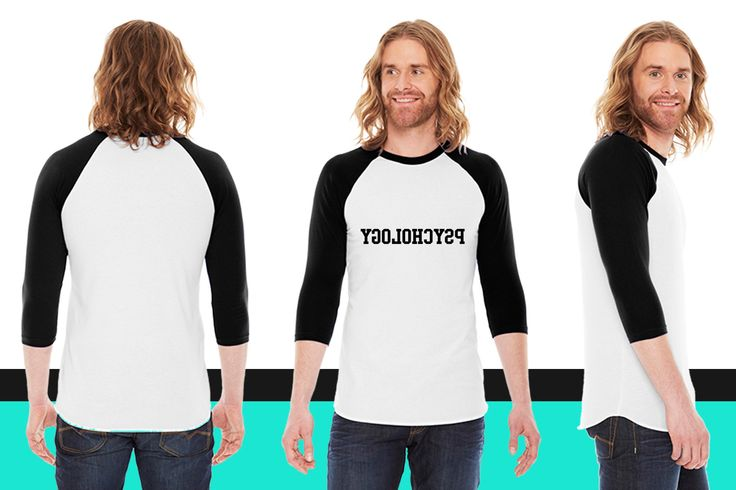 Reverse Psychology American Apparel Unisex 3/4 Sleeve T-Shirt