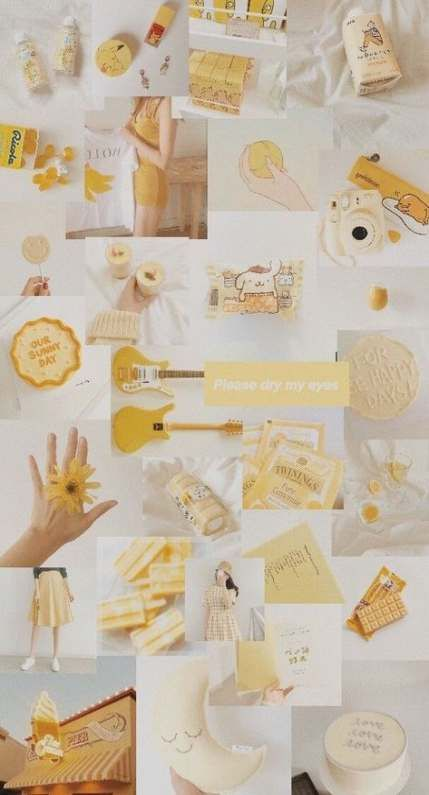 Photo Wall Collage Yellow