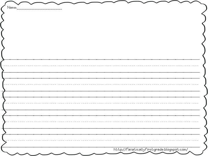 grade 1 writing paper For the more skillful scribe, here's blank lined writing paper without the center guidelines since it is printable from a pdf, you can print one page or a dozen whatever your needs are students may use it for letter writing practice, story creation, or even regular homework assignments .