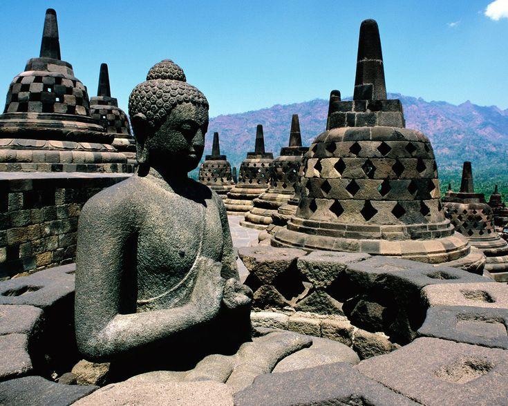 Borobudur, or Barabudur, is a 9th-century Mahayana Buddhist Temple in Magelang Indonesia.
