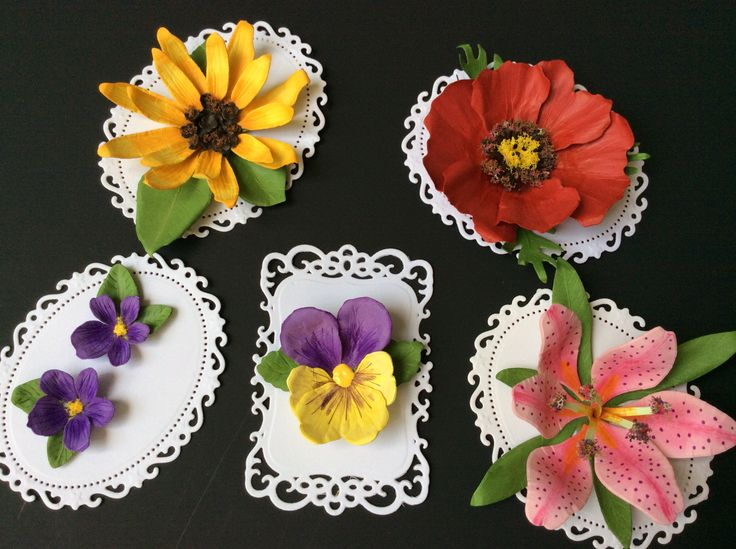 flowers made with susan u0026 39 s garden dies by sizzix  pansy