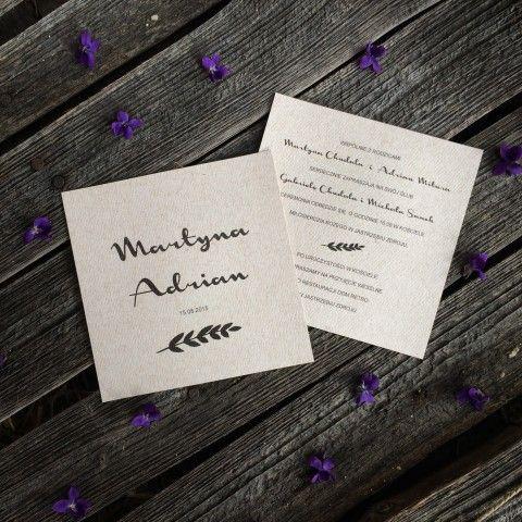 zaproszenie ślubne w stylu boho http://bohodesign.pl/pl/p/Boho-001/167