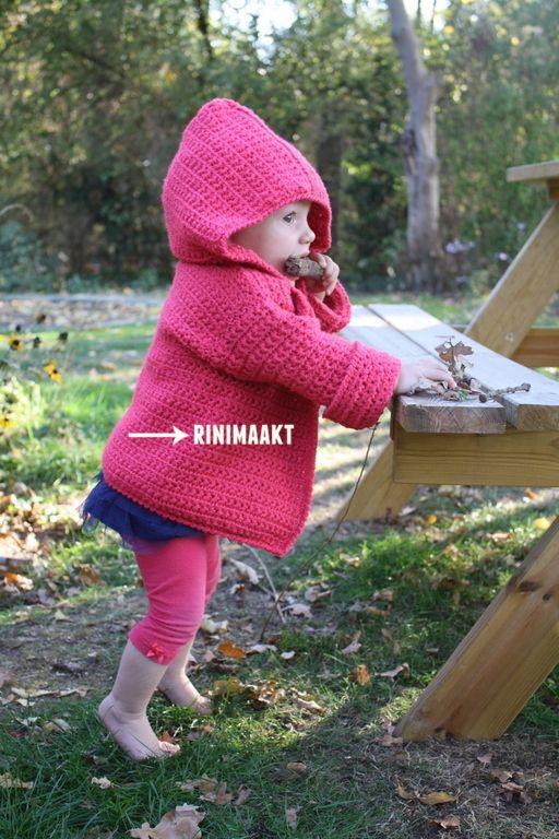 Vestje In Madeliefsteek Maat 86 Rinimaaktnl Handwerk Baby