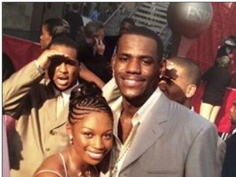Allyson Felix and LeBron James in the awards show