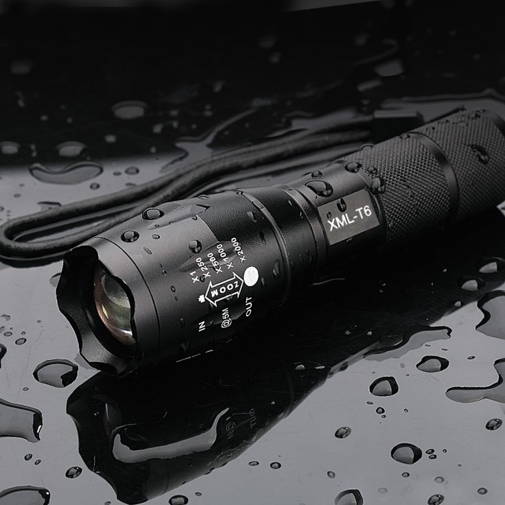 XML T6 3800 Lumens Zoomable LED Tactical Flashlight