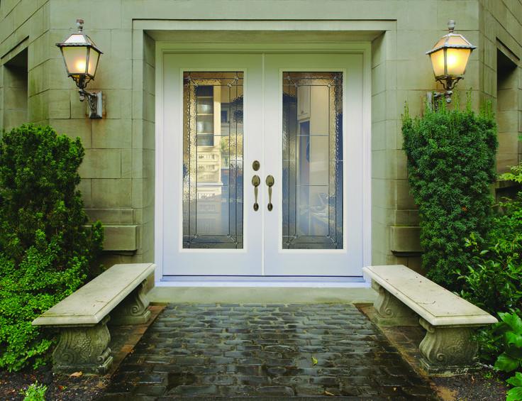 43 best exterior doors images on pinterest entrance - Menards exterior doors with glass ...