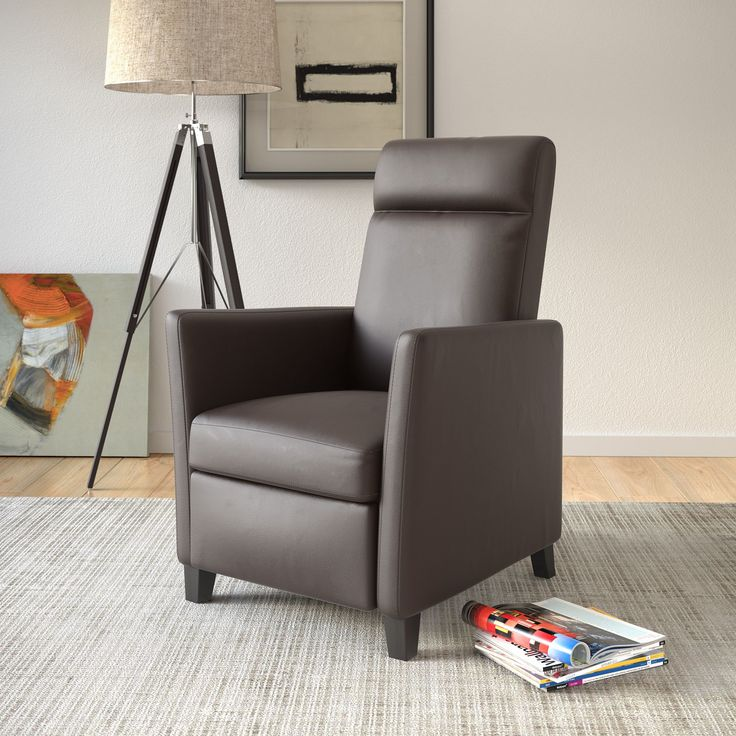 corliving elise bonded leather recliner chair brown
