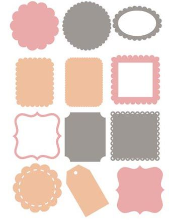 free die cut shapes