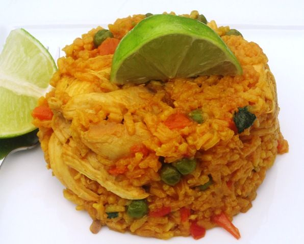Arrroz con Pollo (Chicken and Rice) recipe from My Colombian Recipes.  Have made this several times now and comes out delicious and authentic.
