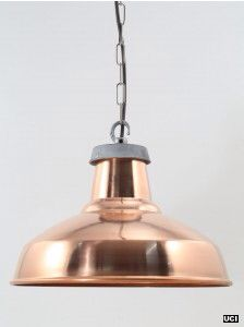 Large copper pendant from urban cottage industries
