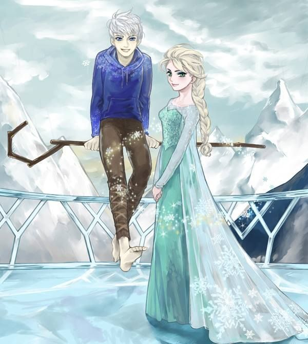 One of my new favorite Disney ships: Elsa and Jack Frost