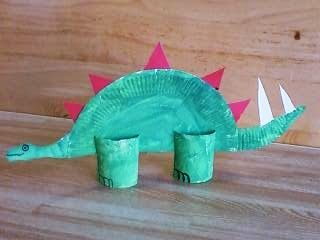 Preschool Crafts for Kids*: Paper Plate Dinosaur Stegosaurus Craft