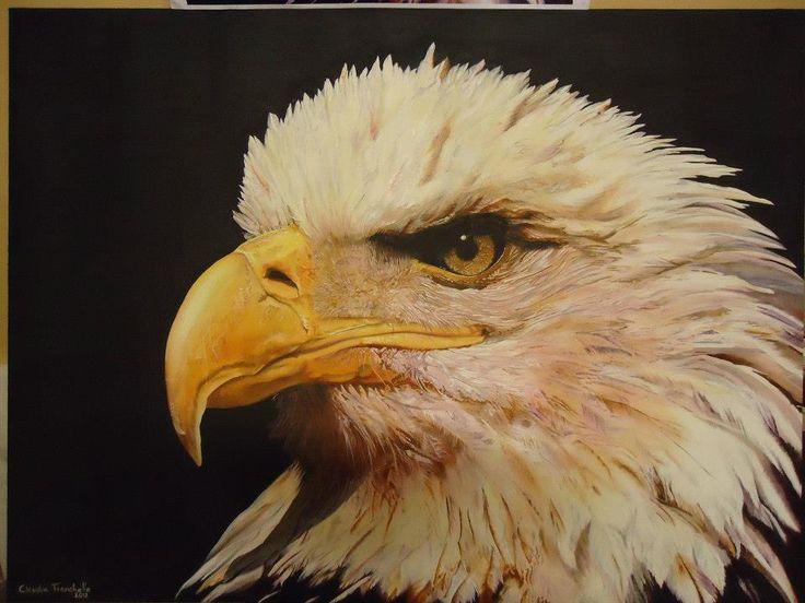 Águila.- Bastidor 80x60 Pincel al oleo