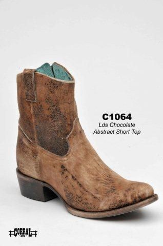 Corral Chocolate Tan Lamb Abstract Short Top Women's Cowgirl Boots -  HeadWest Outfitters