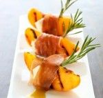 Grilled peach appetizer - The Secret Ingredient by Shane Christoffer
