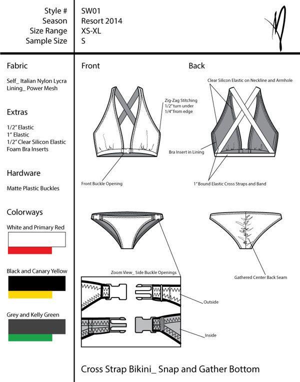 Swimwear Tech Pack on Behance