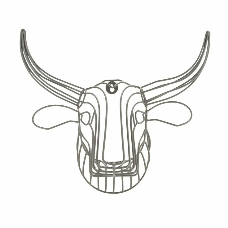 Ben De Lisi Home Designer Grey Wire Bull Head