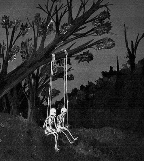 skeleton, skull, and black and white image