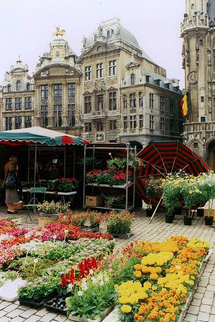 Brussels (Flower Market)  Been to Belgium, but being in the airport for a connecting flight doesn't count