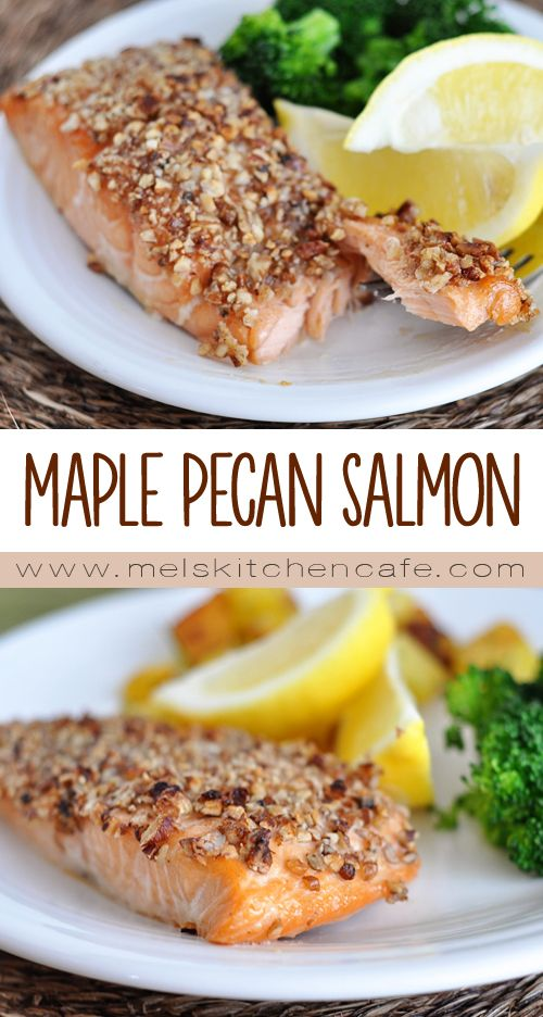 The simple marinade in this Maple Pecan Salmon takes a great piece of fish to new levels of amazing!