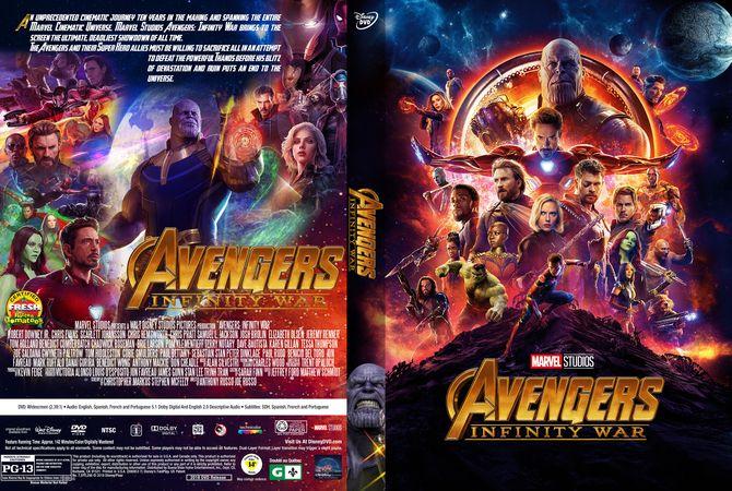 Avengers Infinity War 2018 Dvd Custom Cover Lui In 2019