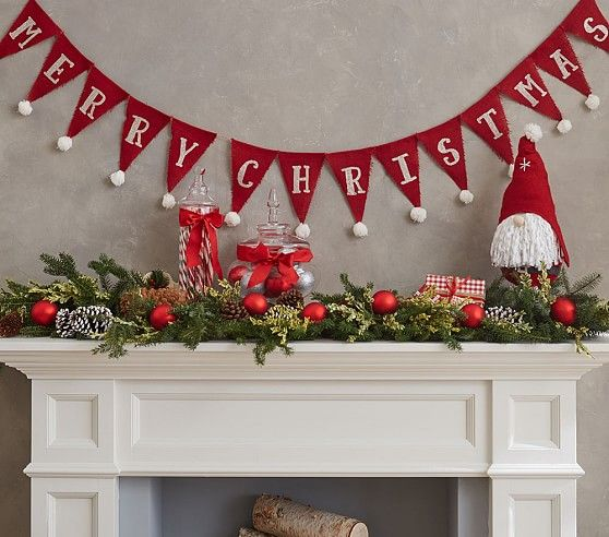 Merry Christmas Bunting Garland | Pottery Barn Kids