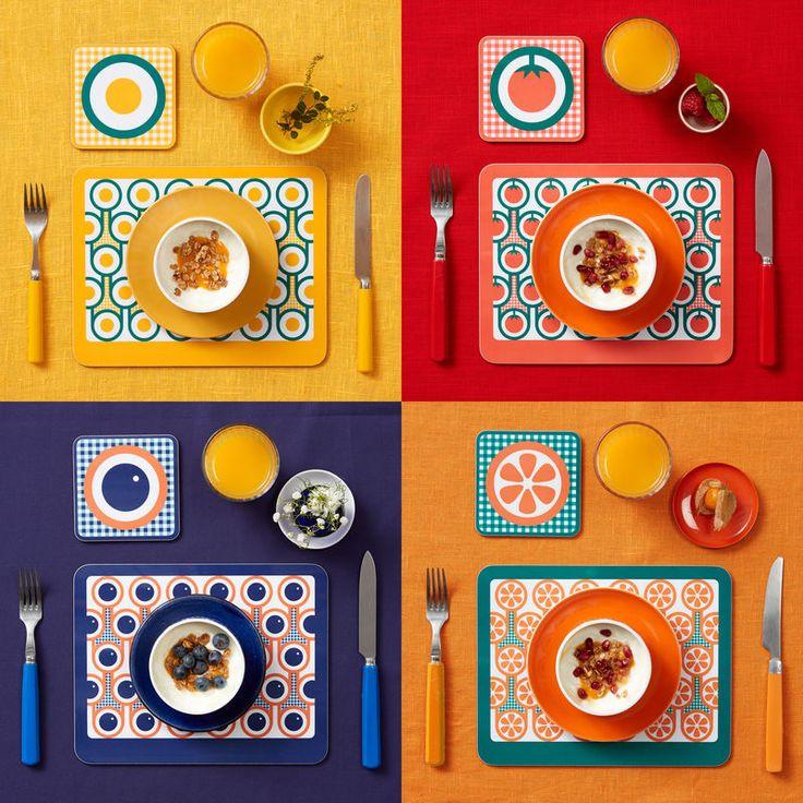 Hokolo English Breakfast coaster & placemat sets