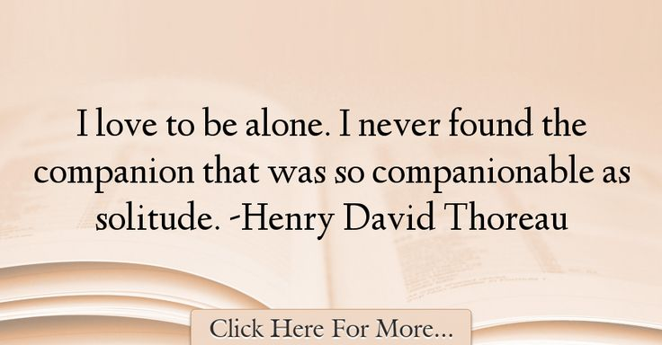 Henry David Thoreau Quotes About Alone - 1012