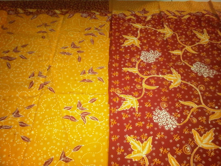 Batik tulis pagi-sore (red-orange)