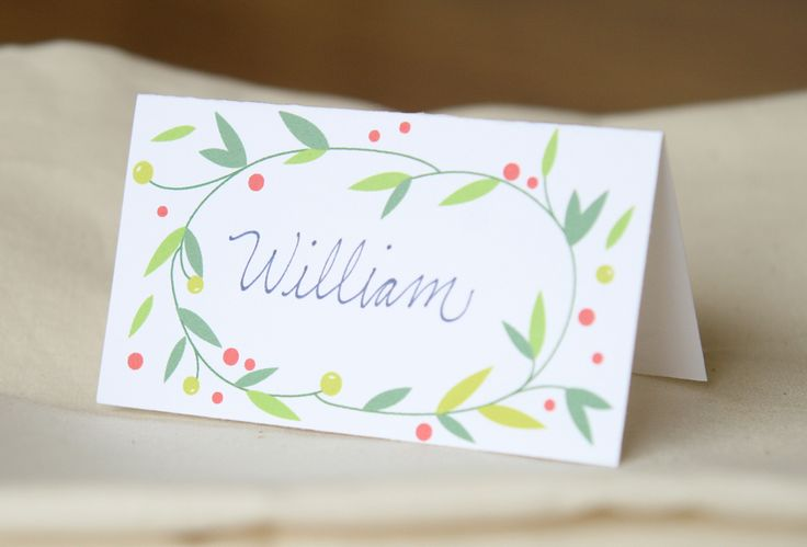 Decorate your Christmas table with these cute little place cards. I designed it so the front is how I show it above, but you could actual...