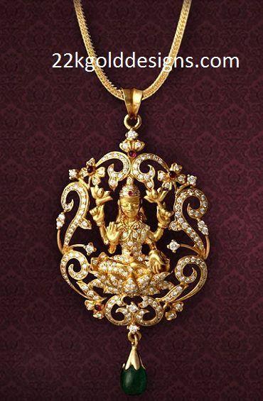 Lakshmi Devi Diamond Locket