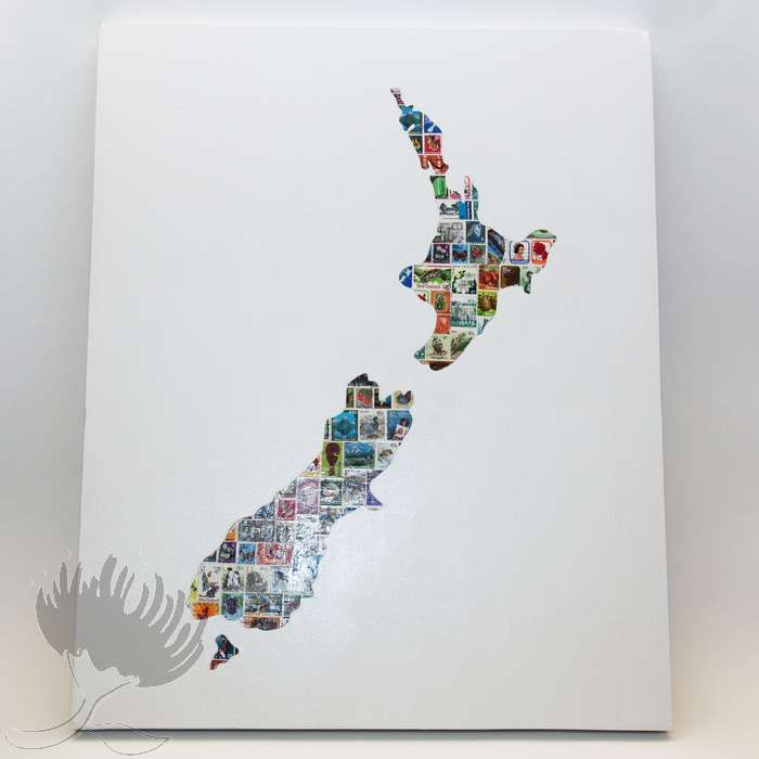 Jo Marie Stamp Canvas – Extra Large Map NZ - Pohutukawa Gallery