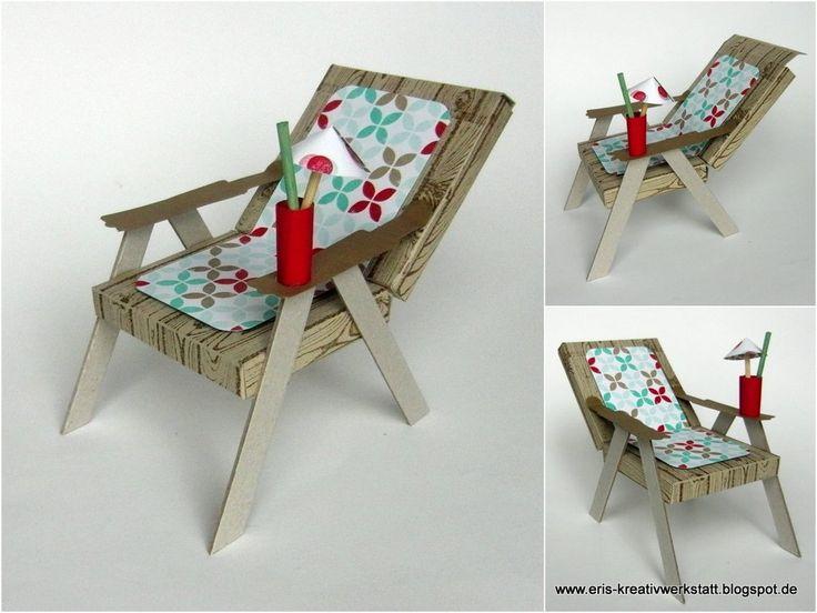 Eine Kundin hatte zu noch sommerlichen Zeiten bei mir einen Liegestuhl aus Papier für ein Geldgeschenk bestellt. Das zu beschenkende Geburts...