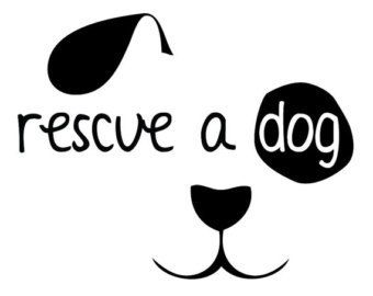 Rescue Dog Decal  Rescue Dog with Dog Face Vinyl Decal by AMAvinyl, $6.00
