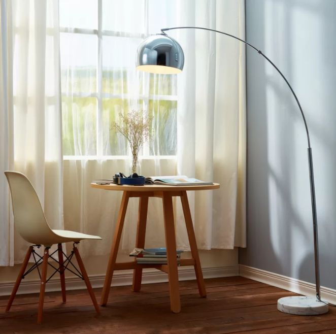 Arquer 66 93″ arched floor lamp floor lamps for reading